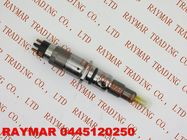 BOSCH Genuine common injector 0445120060, 0445120250 for Cummins 3977080, 4983267, 5263321, DAF 1703934